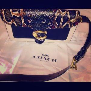 Coach Snakeskin Tabby Shoulder Bag